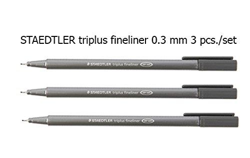 Staedtler Triplus Fineliner Pens gray color 3 Pcs./Pack