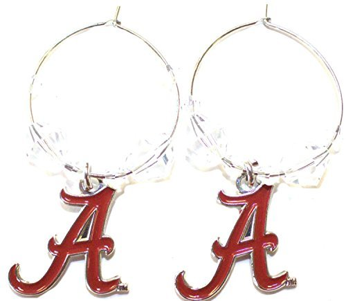 NCAA Officially Licensed Alabama Crimson Tide Beaded Hoop Earrings