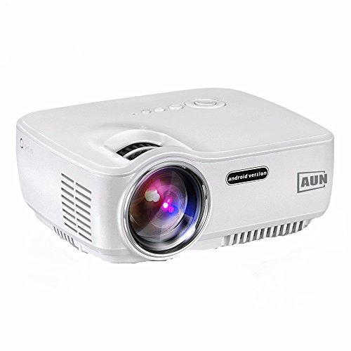 AUN AM01S Projector 1400 Lumens LED Android 4.4 WIFI Bluetooth Support AC3 MINI Projector