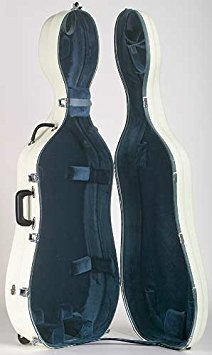 Bobelock 2000W Fiberglass Ivory/Blue 4/4 Cello Case with Wheels (Bobelock Fiberglass Violin Case)