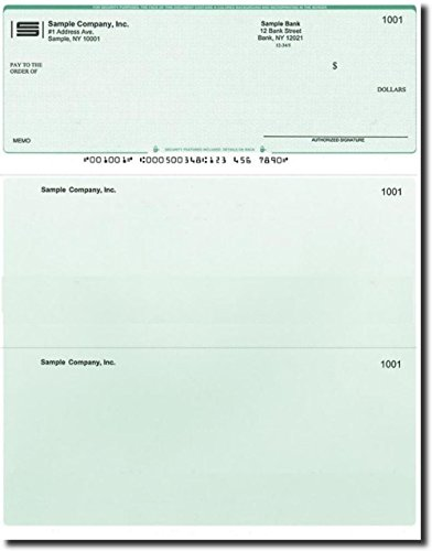 (500 Printed Laser Computer Voucher Checks Compatible with Quickbooks - Green Diamond)