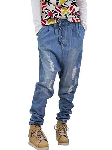 Uomo Pantaloni Paffuti Denim Casual Blau Hop In Hip Baggy Classici Da Abbigliamento Skateboard Jeans YnAwqxpx