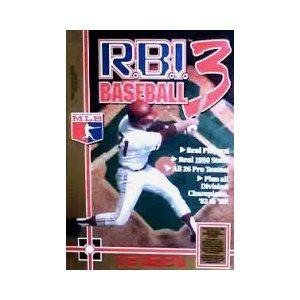 MANUAL ONLY for RBI Baseball 3 (R.B.I. Baseball 3) - Nintendo, NES