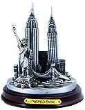 New York 3-D Round Pewter Model