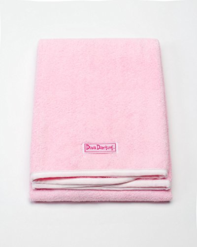 Diva Darling, Easy To Use & Super Absorbent Microfiber Hair Towel, Pink (19 x 39-Inches) (Dryer Hair Diva Towel)