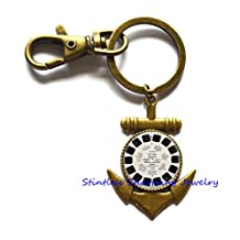 View Master Anchor Keychain Vintage Viewmaster Reel Viewfinder Key Ring,Best friend Anchor Keychain,Simple View Master Anchor Keychain