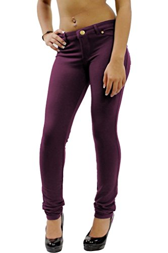 S UK Ladies Jeggings Fit Size Stretchy Trousers Coloured Purple 8 Skinny Jeans Womens q8wd5q