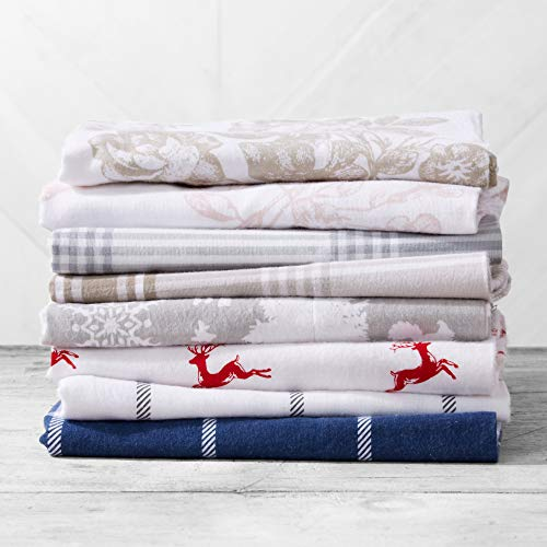 Great Bay Home Extra Soft Enchated Woods 100% Turkish Cotton Flannel Sheet Set. Warm, Cozy, Lightweight, Luxury Winter Bed Sheets. Belle Collection (King, Enchanted Woods) by Great Bay Home (Image #5)