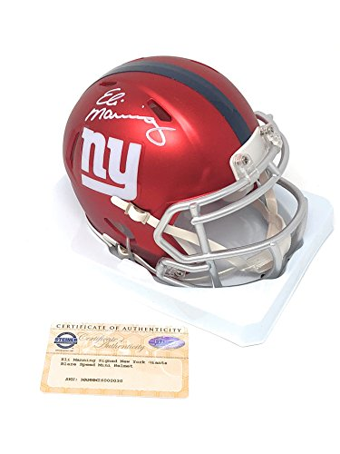 Eli Manning New York Giants Signed Autograph BLAZE Mini Helmet Steiner Sports Certified