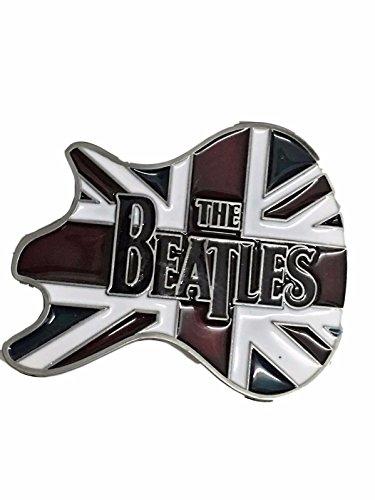 The BEATLES Guitar British Flag Metal Enamel BELT BUCKLE (Uk Belt Buckle compare prices)