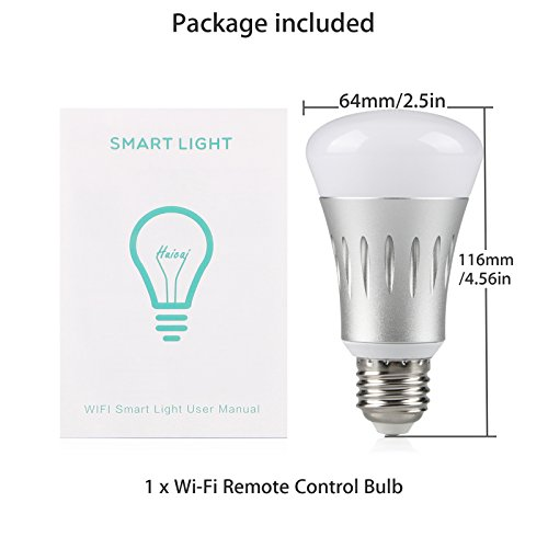 wifi smart led light bulb works with alexa no hub required linkstyle e27 smart wifi bulb rgb. Black Bedroom Furniture Sets. Home Design Ideas
