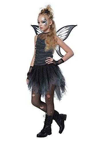 California Costumes Magic, Evil, Dark, Pixie, Tinkerbelle, Wings Mystical Fairy Girls Costume, Black/Gray, (Evil Fairies Costumes)