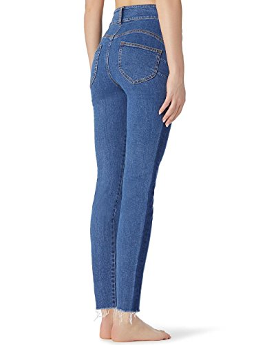 Jean Calzedonia Up Taille Bleu 3210 Femme Haute Push rrxw5qf