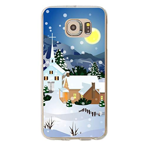 Tfvouvo Snow Scenery Case for Galaxy S6 - Replacement Cover for Samsung S6
