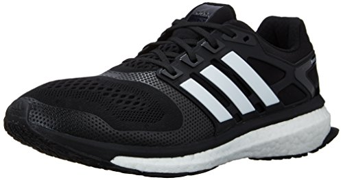 Adidas Performance Hombre Energy Boost 2m–Zapatillas de Running Acolchada, Negro, Blanco, Rojo, (Black/White/Solar...