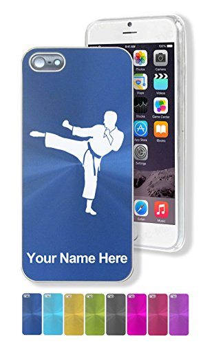 Case for Apple iPhone SE - Karate Man - Personalized Engr...