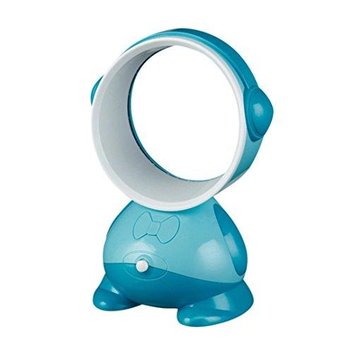 SUJING Bladeless fan Portable Cooling Fan Safe Table Fan Mini Fan Desktop Fan (Sky Blue) by SUJING