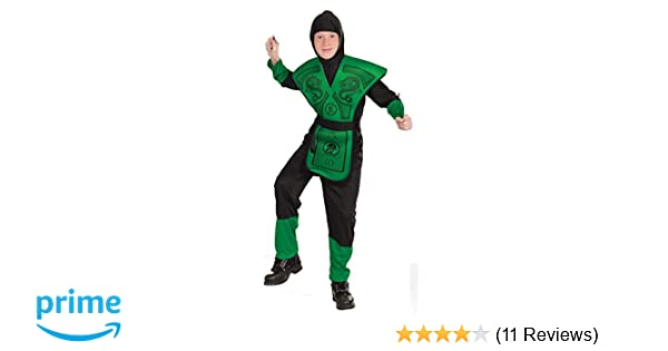 Forum Novelties Green Ninja Costume, Child Large