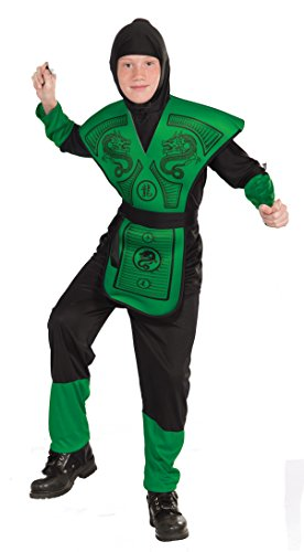 [Forum Novelties Green Ninja Costume, Child Medium] (Halloween Costumes For Asian Women)