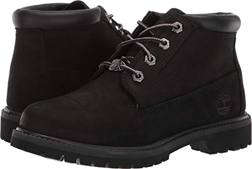 Timberland Women's Nellie Double WP Ankle Boot,Black,9 M US TB023398001