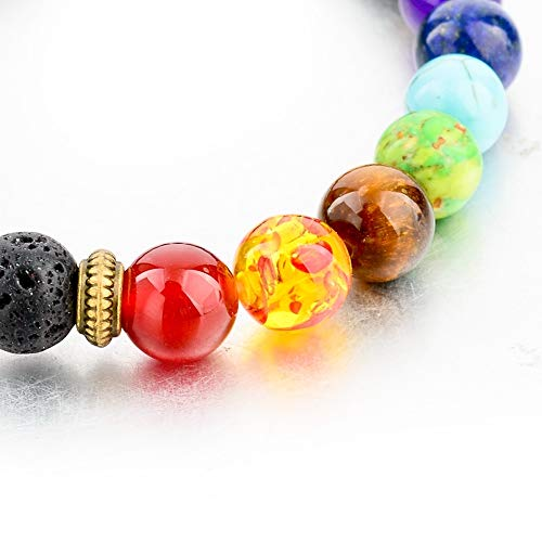 Mystiqs Lava Rock Beaded Bracelet Essential Oil Diffuser for Men,Women Ideal for Anti-Stress or Anti-Anxiety