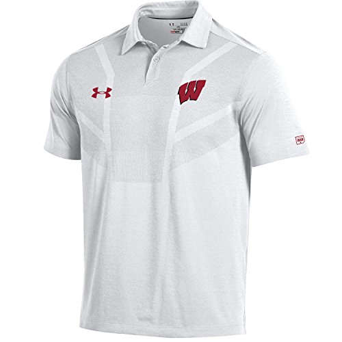 Under Armour NCAA Wisconsin Badgers Men's Sideline Tour Coaches Polo, X-Large, (Coaches Sideline Polo)