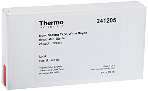 Nunc Rayon Acrylate Sealing Tapes, White, Breathable (Case of 50) - Nunc Sealing Tape