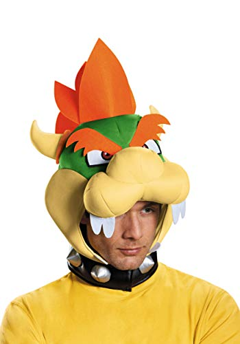 Disguise Men's Bowser Headpiece Costume Accessory - Adult, Multi, One Size ()