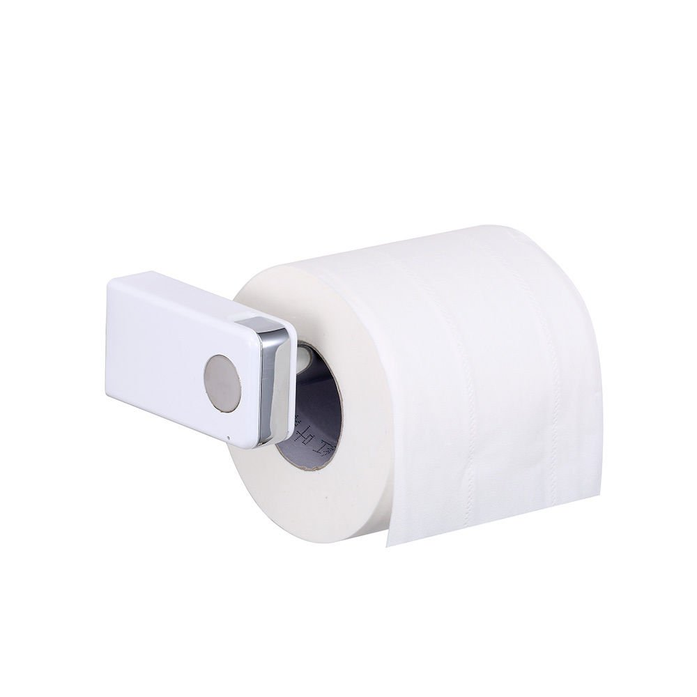 CRW Chrome Bathroom Toilet Paper Roll Holder Tissue Hanger with Towel Robe Hook