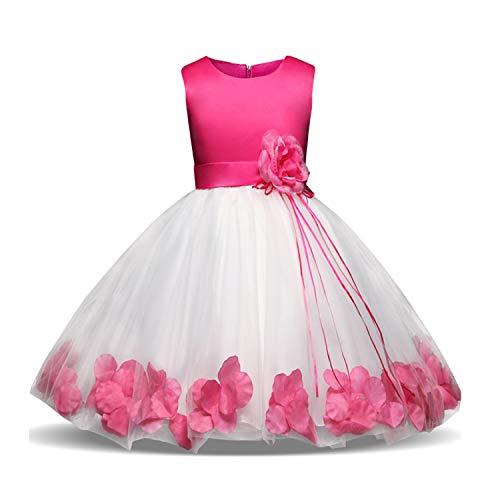 TTYAOVO Meisjesjurk met kant en borduurwerk, prinsessenjurk, bruiloft,