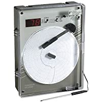 Supco CR87HT220C 6 High-Temperature Chart Recorder, Type J, 0-500 C; 220VAC