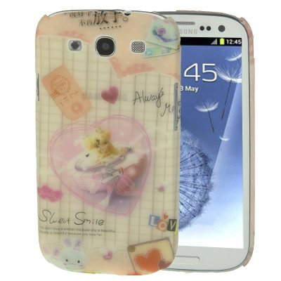 High-quality Embossed Feel Love Bear Doll Pattern Anti-scratch Plastic Protection Case for Samsung Galaxy S III / i9300