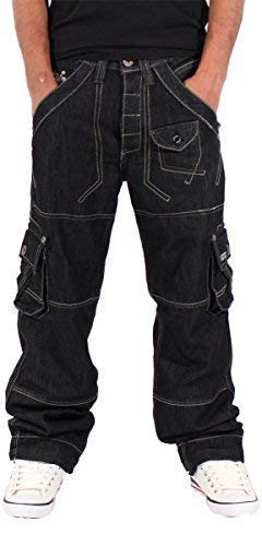 a1bb84670 Peviani Mens Boys Cargo Combat Star Jeans Time Is Nappy G Boy Urban Hip Hop  Wear (W36 - L34): Amazon.co.uk: Clothing