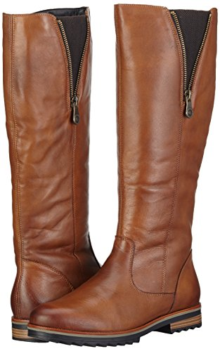 bd7f7b278a7a Amazon.com   Remonte Women s Holt Long Leather Zip Boots 4 37 Chestnut    Boots