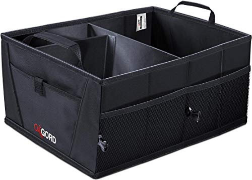 Trunk Organizer for Car SUV Truck Van Storage Organizers Best for Auto Accessories in Bed Interior, Collapsible Vehicle Caddy Large Box Tote Compartment Heavy Duty for Grocery, Tools or Boots