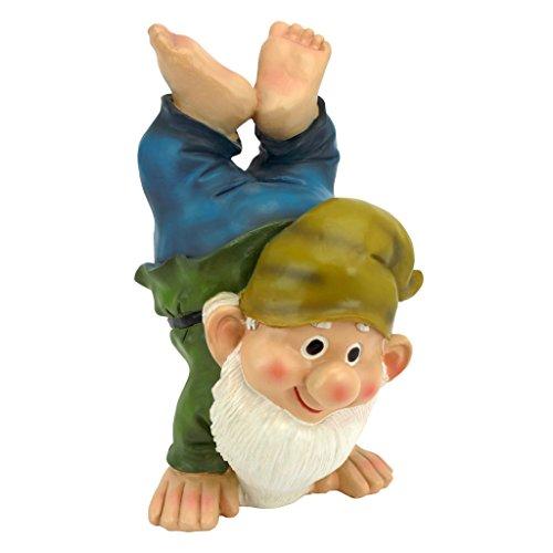 Garden Gnome Statue - Handstand Henry - Lawn Gnome ()