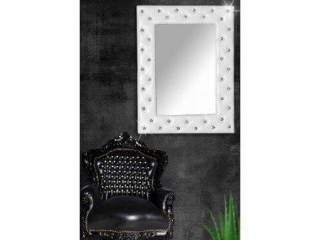 miroir capitonn strass simili cuir blanc 170x60 cm couleur blanc taille 80x60 cm - Miroir Mural Blanc Simili Cuir Strass