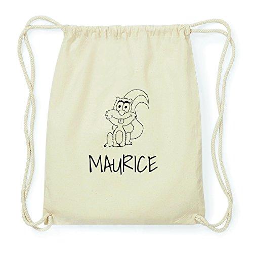 JOllipets MAURICE Hipster Turnbeutel Tasche Rucksack aus Baumwolle Design: Eichhörnchen