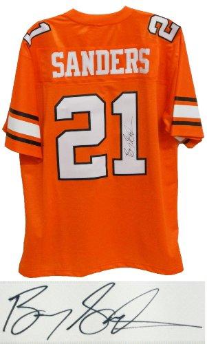 Barry Sanders Signed Jersey - Throwback Orange Premier - Autographed College Jerseys
