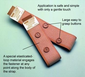 ((EA) Fitz-All(r) with Buttons Fabric Leg Bag Straps by Urocare Products Inc.)