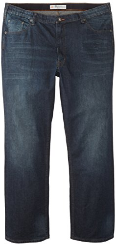 Lee Men's Big-Tall Modern Series Custom Fit Relaxed Straight Leg Jean, Blue Blood, 44W x 30L