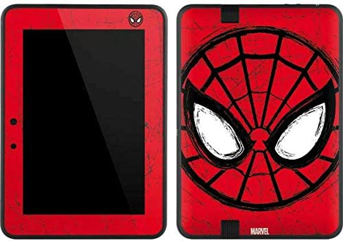 Amazon Com Skinit Decal Tablet Skin Compatible With Kindle Fire Hd 7 Officially Licensed Marvel Disney Spider Man Face Design Electronics