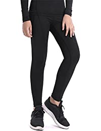 c266c31eca107 Boys & Girls Compression Tights Sport Leggings Base Layer Soccer Hockey  Thermal Pants for Kids