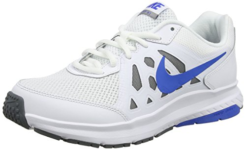 Nike Dart 11 - Sneaker per herren - Blanc / Bleu / Grey (Blanc/Soar-Pure Platinum-Blanc)