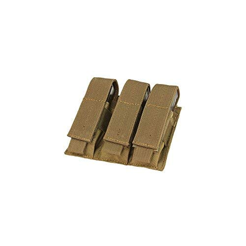 - CONDOR Tactical Triple Pistol Mag Pouch - Brown