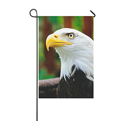 WUTMVING Home Decorative Outdoor Double Sided Northern Bald Eagle White Head Eagle Garden Flag,House Yard Flag,Garden Yard Decorations,Seasonal Welcome Outdoor Flag 12 X 18 Inch Spring Summer Gift
