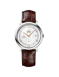 Omega De Ville Prestige Automatic Brown Leather Mens Watch 424.13.40.21.02.002