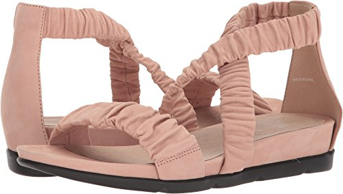 Eileen Fisher Mujeres Dylan Sandal Toffee Cream Tumbled Nubuck