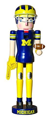 NCAA Michigan Wolverines Football Mascot Decorative Wooden Christmas Nutcracker (Wolverine Mascot)