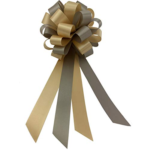 Silver Grey Bronze Brown Pull Bows - 8